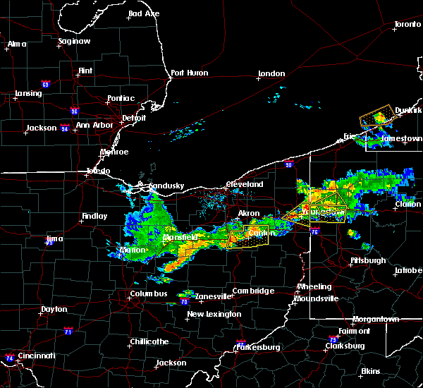 Radar Image for Severe Thunderstorms near Massillon, OH at 6/29/2017 9:22 PM EDT