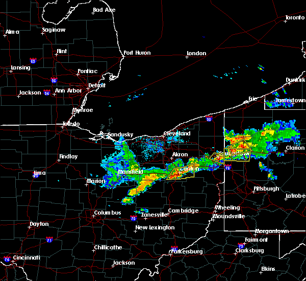Radar Image for Severe Thunderstorms near Massillon, OH at 6/29/2017 9:40 PM EDT
