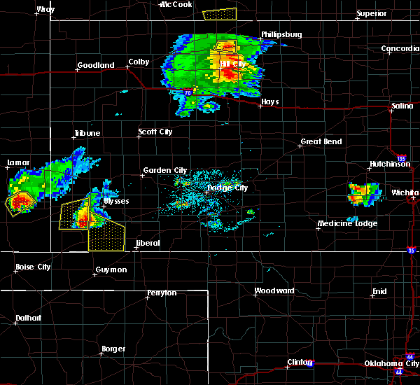 Radar Image for Severe Thunderstorms near Moscow, KS at 6/29/2017 9:22 PM CDT
