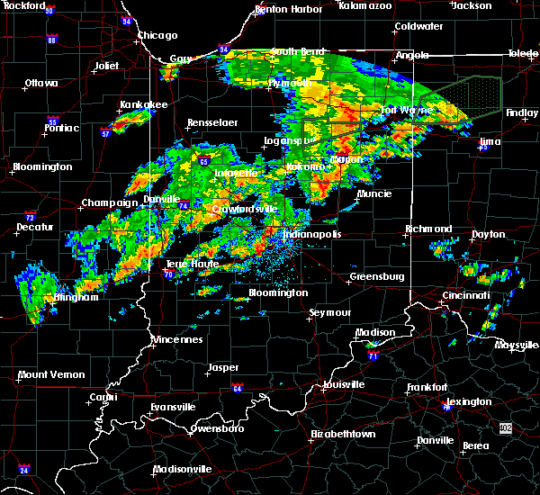 Radar Image for Severe Thunderstorms near Indianapolis, IN at 6/30/2017 4:09 PM EDT
