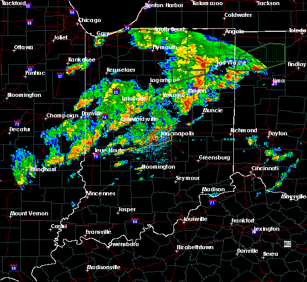 Radar Image for Severe Thunderstorms near Indianapolis, IN at 6/30/2017 4:15 PM EDT