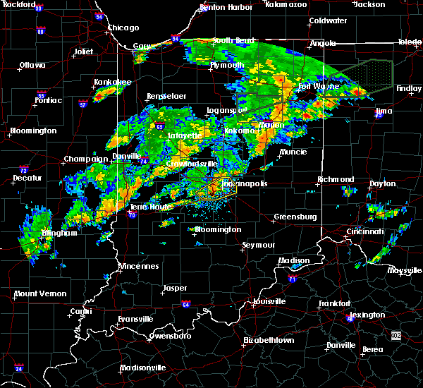 Radar Image for Severe Thunderstorms near Indianapolis, IN at 6/30/2017 4:21 PM EDT