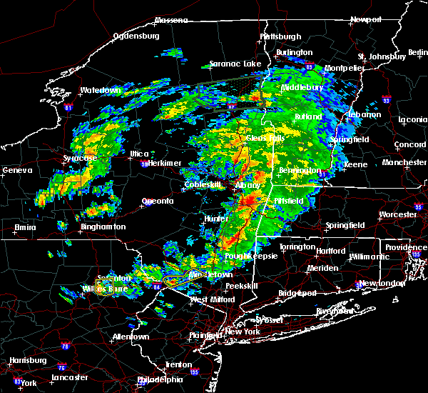 Radar Image for Severe Thunderstorms near Pittsfield, MA at 6/30/2017 4:37 PM EDT