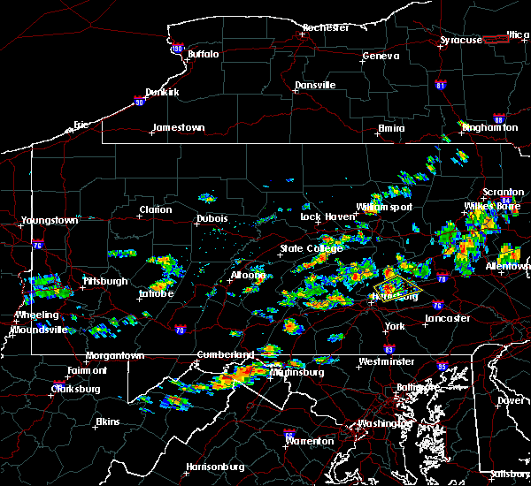 Radar Image for Severe Thunderstorms near Hershey, PA at 6/30/2017 4:59 PM EDT
