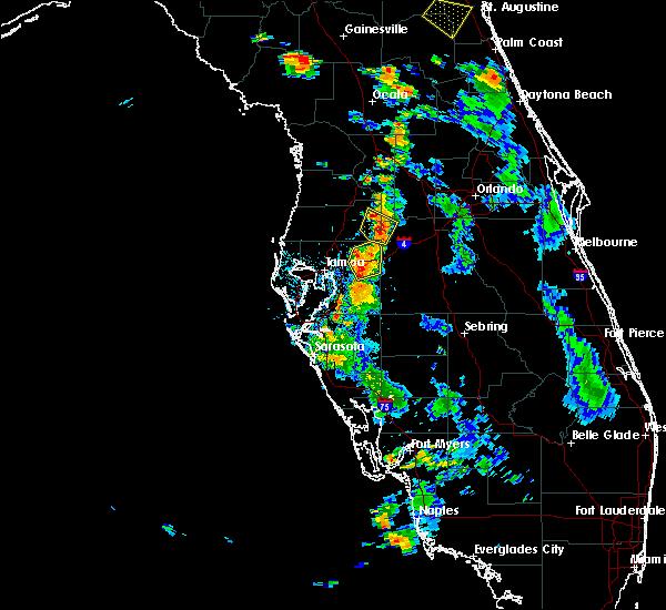 Radar Image for Severe Thunderstorms near Kathleen, FL at 6/30/2017 6:53 PM EDT