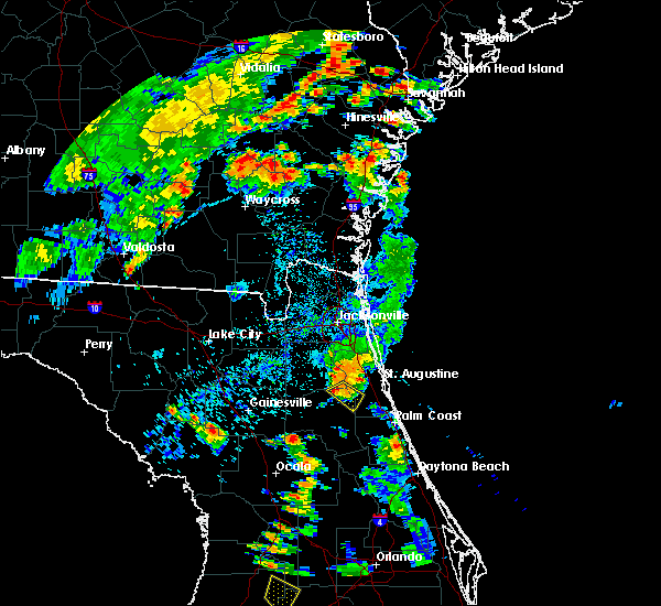 Radar Image for Severe Thunderstorms near Hastings, FL at 6/30/2017 7:08 PM EDT