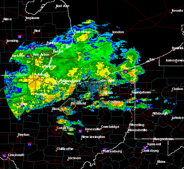 Radar Image for Severe Thunderstorms near Lucas, OH at 6/30/2017 7:09 PM EDT