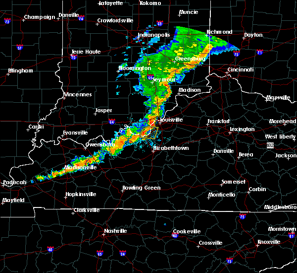Radar Image for Severe Thunderstorms near West Point, KY at 6/30/2017 9:34 PM EDT
