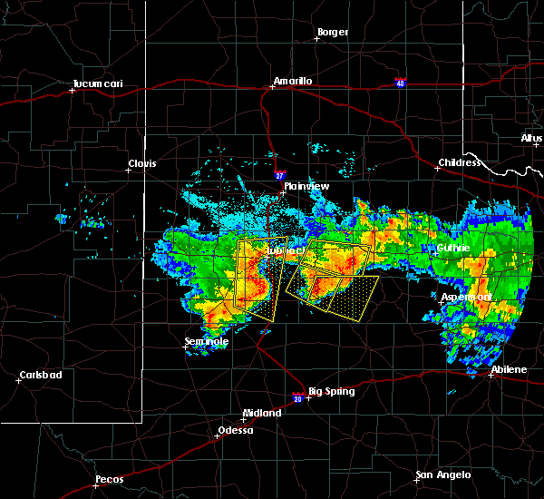 Radar Image for Severe Thunderstorms near Post, TX at 7/1/2017 2:31 AM CDT