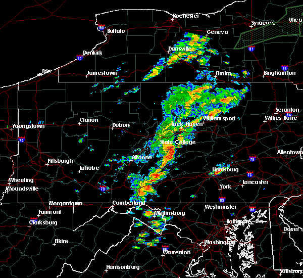 Radar Image for Severe Thunderstorms near Longfellow, PA at 7/1/2017 1:27 PM EDT