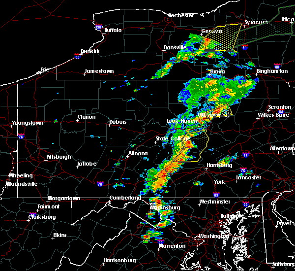 Radar Image for Severe Thunderstorms near Linntown, PA at 7/1/2017 1:58 PM EDT