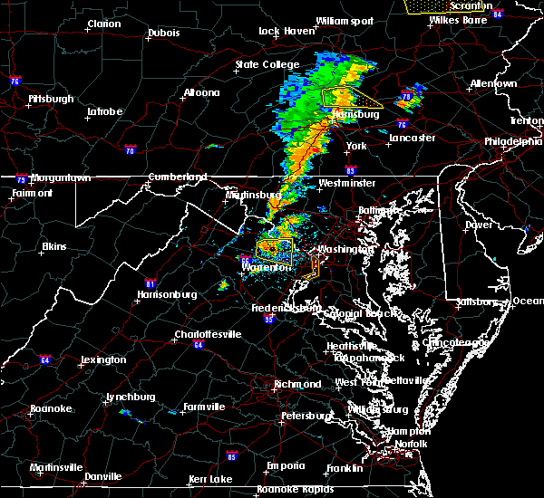 Radar Image for Severe Thunderstorms near Fairfax, VA at 7/1/2017 2:56 PM EDT