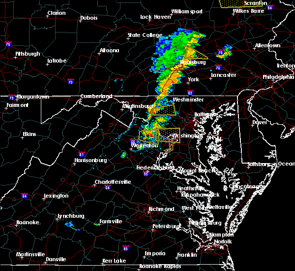 Radar Image for Severe Thunderstorms near Seven Corners, VA at 7/1/2017 3:05 PM EDT