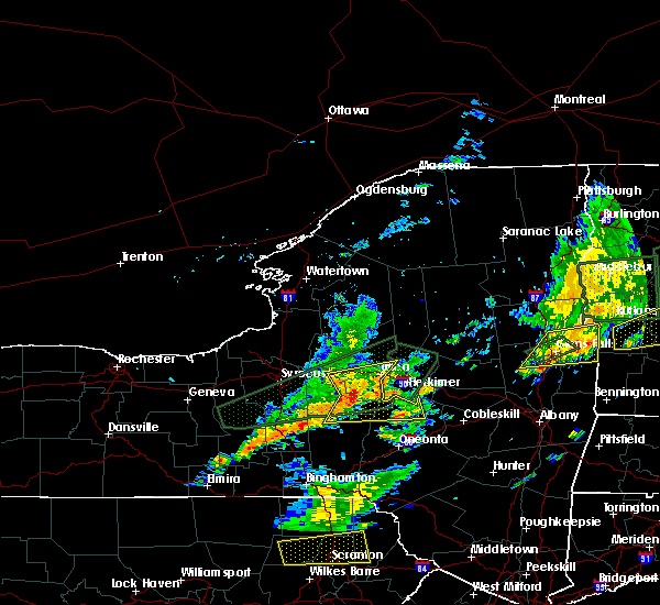 Radar Image for Severe Thunderstorms near Waterville, NY at 7/1/2017 3:33 PM EDT