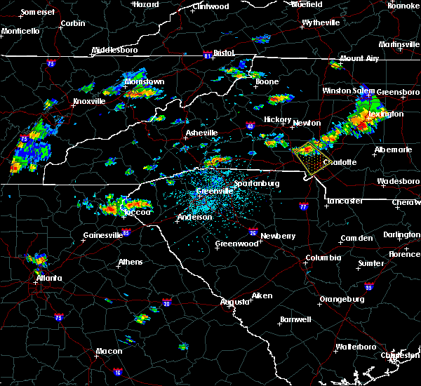 Radar Image for Severe Thunderstorms near Spencer Mountain, NC at 7/1/2017 3:36 PM EDT