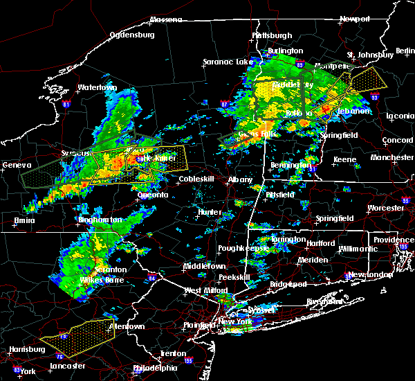Radar Image for Severe Thunderstorms near Gloversville, NY at 7/1/2017 3:48 PM EDT