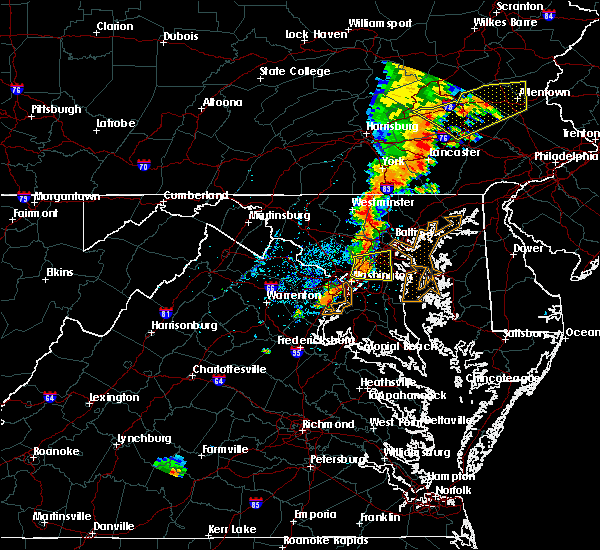 Radar Image for Severe Thunderstorms near Fort Meade, MD at 7/1/2017 3:55 PM EDT