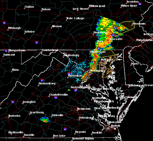 Radar Image for Severe Thunderstorms near Cockeysville, MD at 7/1/2017 4:01 PM EDT