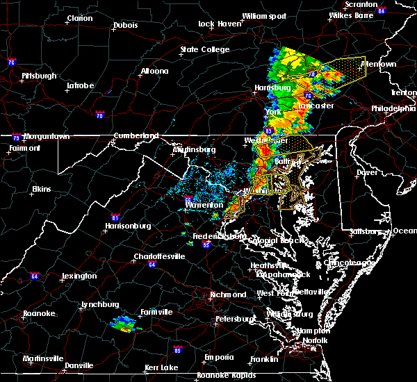 Radar Image for Severe Thunderstorms near Woodmore, MD at 7/1/2017 4:07 PM EDT