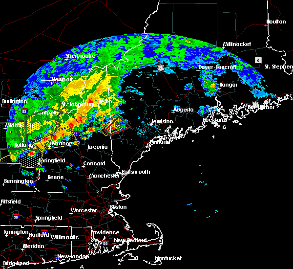 Radar Image for Severe Thunderstorms near Bridgton, ME at 7/1/2017 4:20 PM EDT