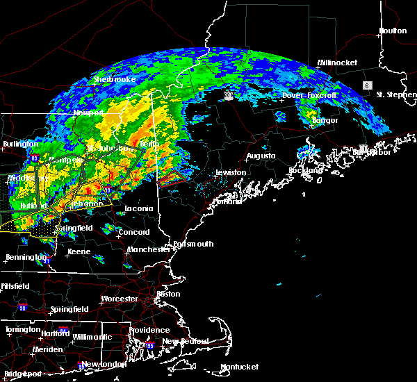 Radar Image for Severe Thunderstorms near Bridgton, ME at 7/1/2017 4:32 PM EDT