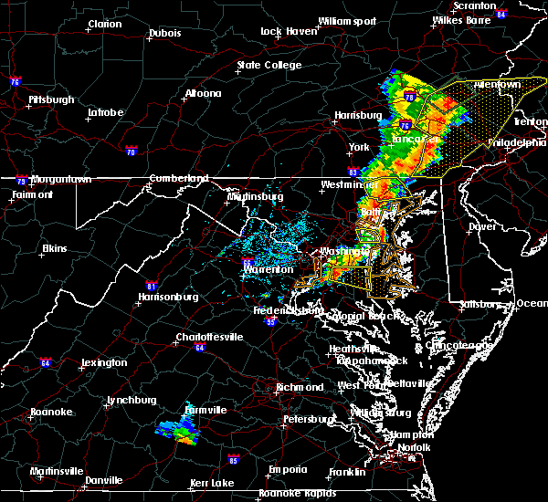 Radar Image for Severe Thunderstorms near Owings, MD at 7/1/2017 4:36 PM EDT