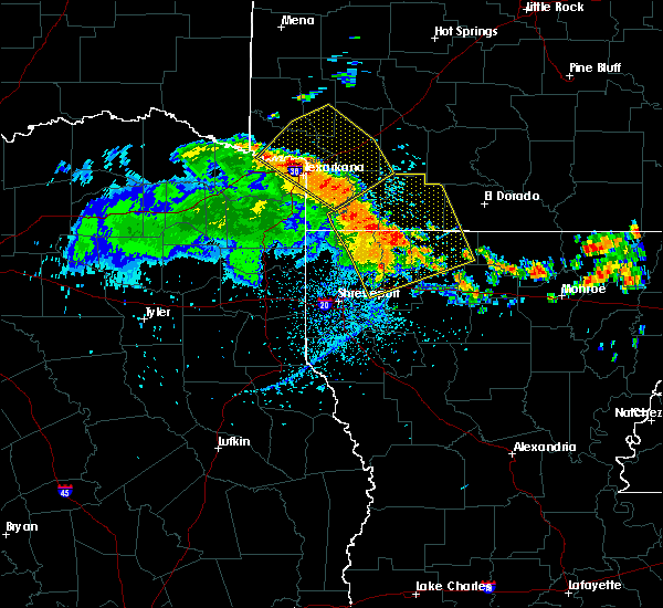Radar Image for Severe Thunderstorms near Hope, AR at 7/1/2017 3:42 PM CDT