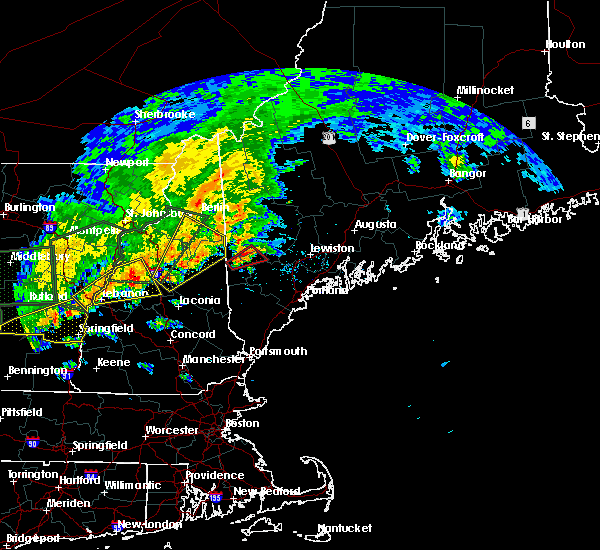 Radar Image for Severe Thunderstorms near Bridgton, ME at 7/1/2017 4:45 PM EDT