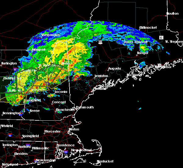 Radar Image for Severe Thunderstorms near Bridgton, ME at 7/1/2017 4:54 PM EDT