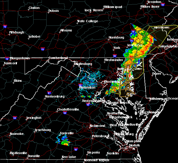 Radar Image for Severe Thunderstorms near Owings, MD at 7/1/2017 4:58 PM EDT