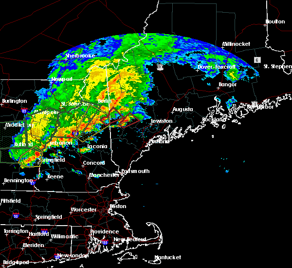 Radar Image for Severe Thunderstorms near Bridgton, ME at 7/1/2017 5:03 PM EDT