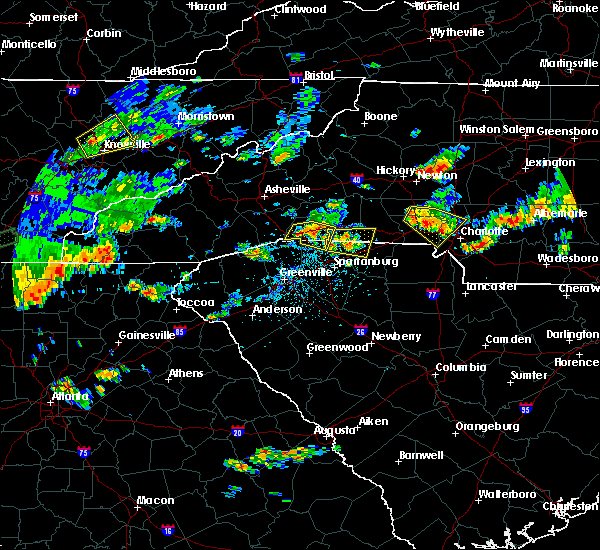 Radar Image for Severe Thunderstorms near Spencer Mountain, NC at 7/1/2017 5:04 PM EDT