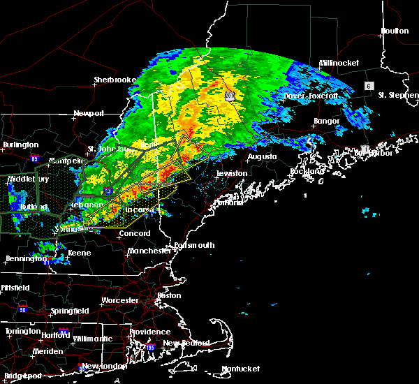 Radar Image for Severe Thunderstorms near Bridgton, ME at 7/1/2017 6:09 PM EDT