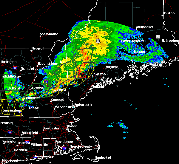 Radar Image for Severe Thunderstorms near Oxford, ME at 7/1/2017 6:38 PM EDT