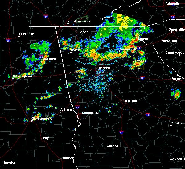 Radar Image for Severe Thunderstorms near Arnoldsville, GA at 7/1/2017 6:47 PM EDT