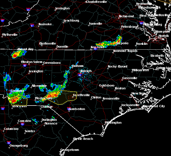 Radar Image for Severe Thunderstorms near Fayetteville, NC at 7/1/2017 6:53 PM EDT