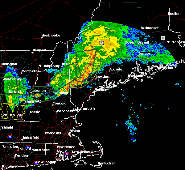 Radar Image for Severe Thunderstorms near Auburn, ME at 7/1/2017 7:00 PM EDT