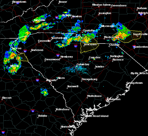 Radar Image for Severe Thunderstorms near Wingate, NC at 7/1/2017 7:09 PM EDT