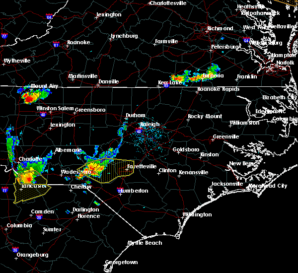 Radar Image for Severe Thunderstorms near Fayetteville, NC at 7/1/2017 7:12 PM EDT