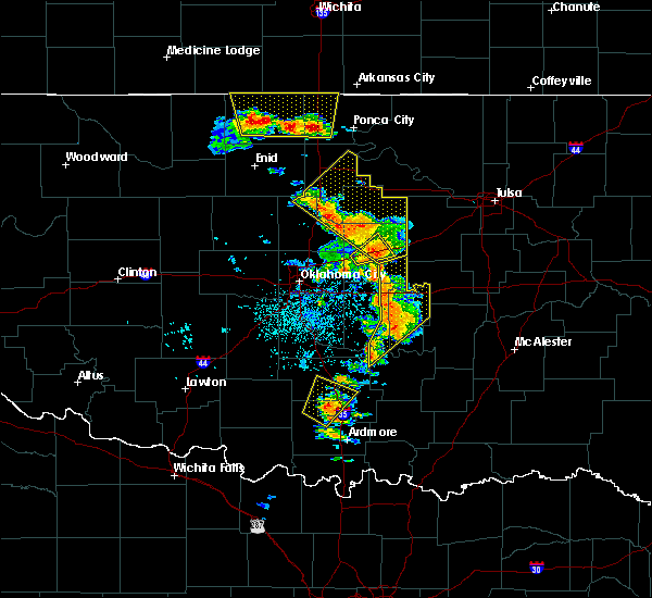 Radar Image for Severe Thunderstorms near Prague, OK at 7/2/2017 3:32 PM CDT