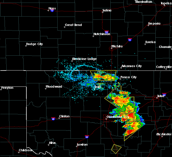 Radar Image for Severe Thunderstorms near Blackwell, OK at 7/2/2017 3:44 PM CDT