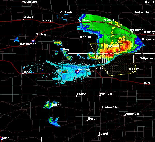 Radar Image for Severe Thunderstorms near Rexford, KS at 7/2/2017 10:03 PM CDT