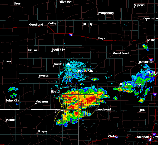 Radar Image for Severe Thunderstorms near Woodward, OK at 7/3/2017 4:55 PM CDT