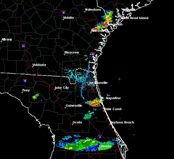 Radar Image for Severe Thunderstorms near Hastings, FL at 7/3/2017 6:50 PM EDT