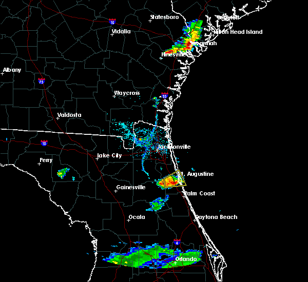 Radar Image for Severe Thunderstorms near St. Augustine South, FL at 7/3/2017 7:02 PM EDT