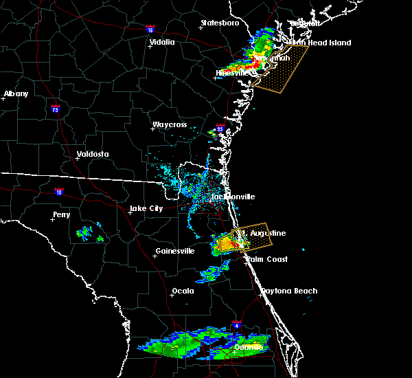 Radar Image for Severe Thunderstorms near St. Augustine South, FL at 7/3/2017 7:12 PM EDT