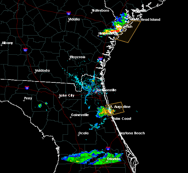 Radar Image for Severe Thunderstorms near St. Augustine South, FL at 7/3/2017 7:21 PM EDT