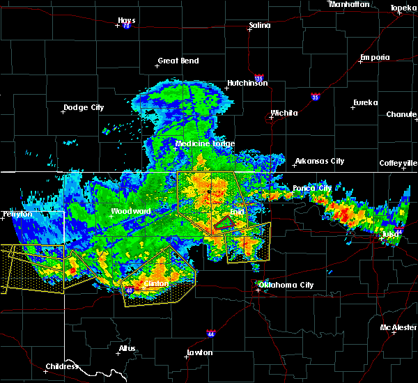 Radar Image for Severe Thunderstorms near Jet, OK at 7/3/2017 7:53 PM CDT