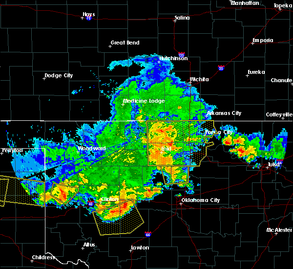 Radar Image for Severe Thunderstorms near North Enid, OK at 7/3/2017 8:21 PM CDT