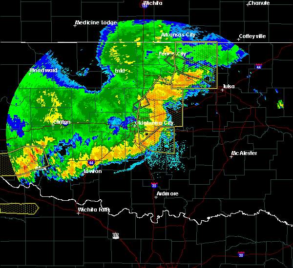 Radar Image for Severe Thunderstorms near Prague, OK at 7/3/2017 10:02 PM CDT